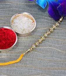Buy Prefect Golden Rakhi fancy-rakhi online