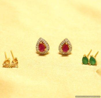Elegant Pear Shaped Changeable Earrings