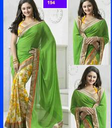 Buy faux georgette saree with dupion blouse other-actress-saree online