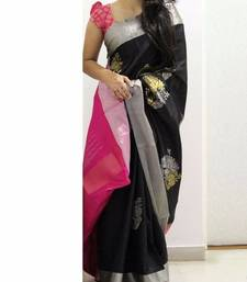 Buy Pink printed silk saree with blouse printed-saree online