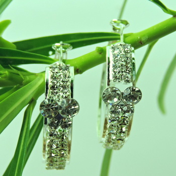 Small Size Designer Silver Crystal Bali
