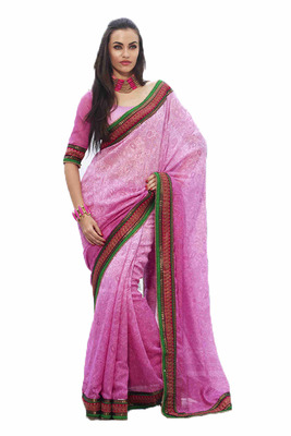 Extra Ordinary Designer Saree in a Smita Silk  Self Print Fabric With Uniuqe Designer Work