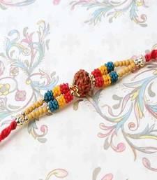 Buy Colorful Tiny Beads with rudraksha-rakhi rudraksha-rakhi online