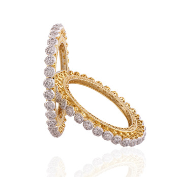 gold plated american diamond  bangle