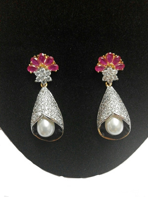 elegant ruby earring
