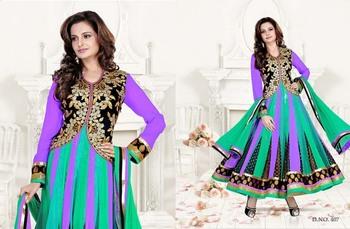 Styloce Multi Color Designer Salwar Kameez .STY-103-407