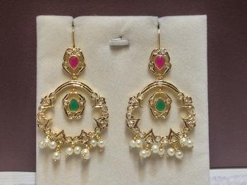 ruby emerald chaandbali