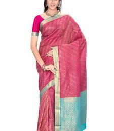 Buy Magenta  pure_crepe saree with blouse wedding-saree online