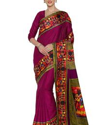 Buy Magenta printed manipuri silk saree with blouse manipuri-silk-saree online