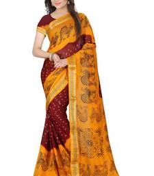 Buy Multicolor printed art silk saree with blouse bandhani-sarees-bandhej online