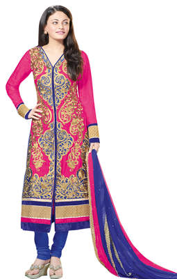 Admirable Embroidered Silk Jacquard Salwar Kameez