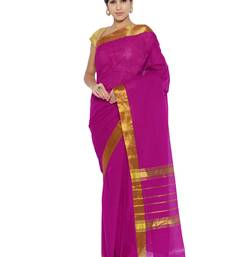 Buy Magenta printed silk saree with blouse traditional-saree online