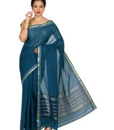Buy Blue printed silk saree with blouse traditional-saree online