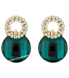 Buy Green crystal earrings jewellery-below-500 online