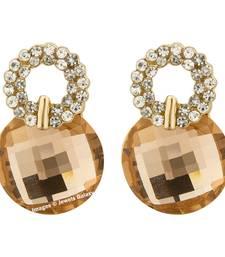 Buy Beige crystal earrings jewellery-below-500 online