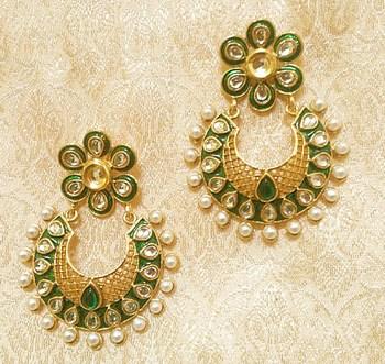 Designer Ethnic Bollywood Jhumki Jewellery Earrings Diwali,Wedding,Gift-LAE03G