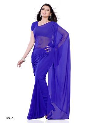 Blue Color Chiffon FestivalCasual Wear Saree