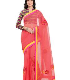 Buy Pink kota cotton kota doria work saree with blouse kota-silk-saree online