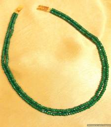 Buy Green Onyx Semi Precious Two Line Necklace Necklace online