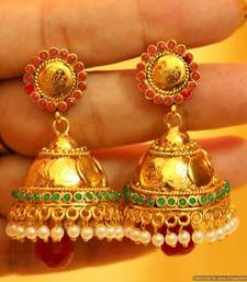 Buy Multicolour Ginni  and  Pearl Jhumkas diwali-jewellery online