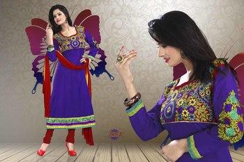 Blue Color Designer Salwar Kameez