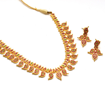 Gold ruby Necklace