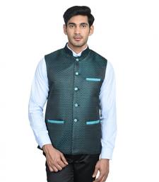 Buy Maroon dot poly cotton round neck men jacket gifts-for-brother online