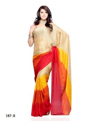 Multi Color Chiffon CasualPartywear Saree
