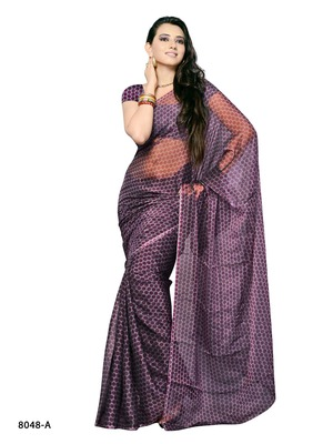 Pink Color Synthetic Raw Silk CasualParty Wear Saree