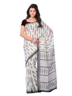 White Color Art Silk CasualOffice Wear Fancy Saree