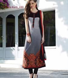 Buy black stitched taffeta silk stitched kurti ethnic-kurtis online