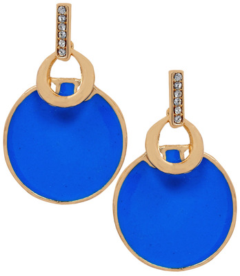 Appealing Blue Statement Push-Back Drop Earrings