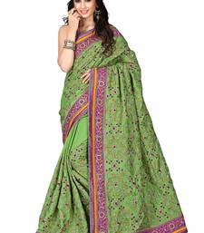 Buy Light green embroidered manipuri silk saree with blouse manipuri-silk-saree online