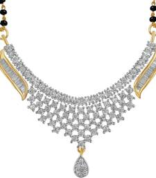 Buy Silver american diamonds mangalsutra mangalsutra online
