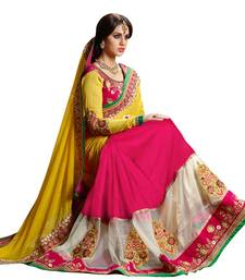 Buy Multicolor embroidered velvet saree with blouse velvet-saree online