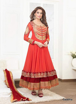 Red Georgette Dress Material