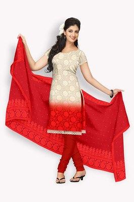 Pure Chiffon  Salwaar Kameez With Resham Embroidery & Zari Embroidery (Fabric Only) - E0301009