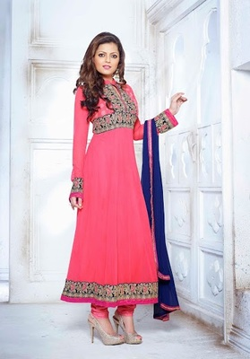 Beautiful madhubala stylish designer salwar kameez attire