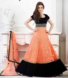 Buy Sizzling long anarkali style salwar kameez attire by madhubala party-wear-salwar-kameez online