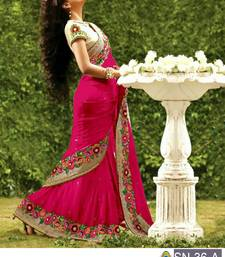 Buy Pink embroidered georgette saree with blouse great-indian-saree-festival online