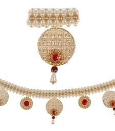 Buy Torans / Door Hanging/ Bandhanwar in Pearls and Red stone door-hanging online