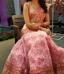 Buy Pink embroidered silk semi stitched lehenga with dupatta lehenga-choli online