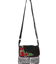 Buy Black sling with flower bunch fashion-deal online