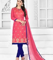 Buy Pink embroidered silk salwar with dupatta black-friday-deal-sale online