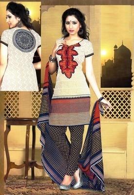 Fabulous Multi Color Printed Crepe Unstitched Dress Material D.No T27016
