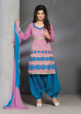 pink Fancy Ladies Suits in designer style