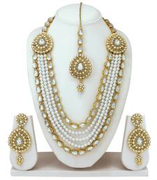 Buy White diamond necklace-sets karva-chauth-jewellery online