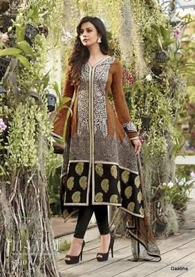 Black Cotton Dress Material