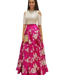 Buy pink silk embroidered lehenga lehenga-choli online