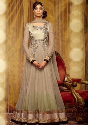 White Goergette Dress Material